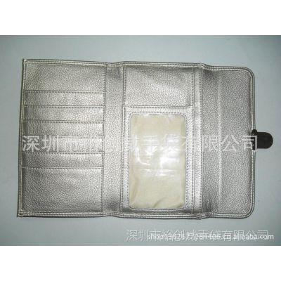 深圳龙岗手袋厂家直销 专业生产 银色PU 多功能 男士钱包