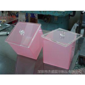 供应供應壓克力箱子 亚克力储物箱 收纳箱 粉紅色 磨砂 半透明 品质优