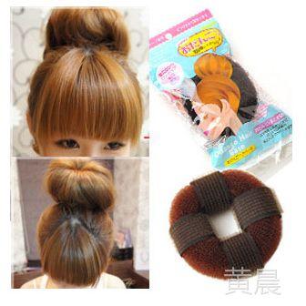 A3-53 日系自粘款甜甜圈 头发增高器 蓬蓬垫 长发变短发盘发器