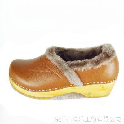 厂家直销2015新款森林系纯色女式棉鞋保暖绒面妈妈孕妇润乐木底鞋