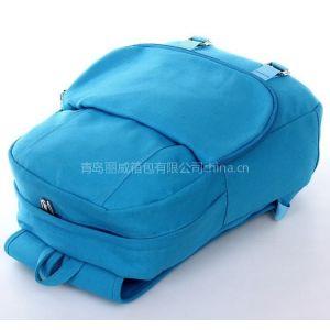 青岛时尚双肩背包加工定做 旅行包定做工厂 lw帆布背包生产厂家