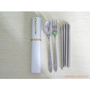 供应环保便携旅行餐具,仙鹤勺叉套装(迷你型口红盒餐具)