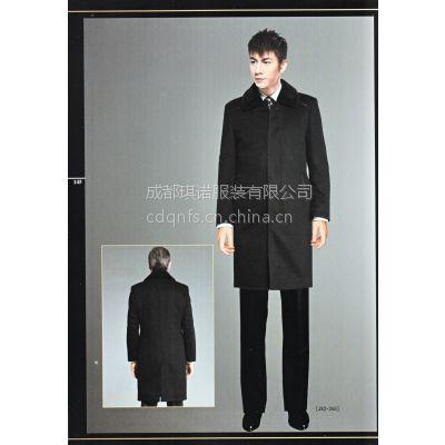 供应琪诺 毛呢大衣 男 呢子大衣 羊绒羊毛呢外套中长款外套男士