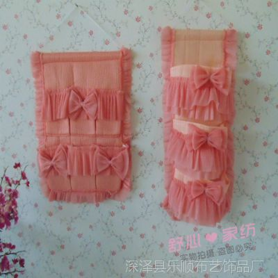 新品上市 桔色挂袋布艺家纺 巧克力 多层挂式收纳袋挂袋 多款可选
