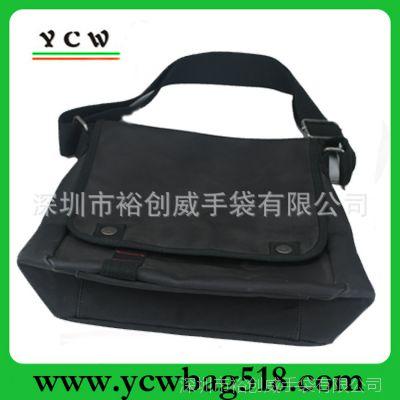 广东生产厂家 生产挎包 过蜡帆布单肩包 男士公文包 欧美挎包出口