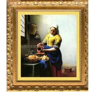 人物油画,现代油画,高档油画(倒牛奶的女仆)
