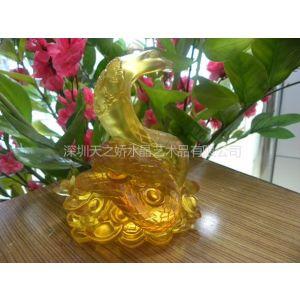 供应金蛇迎福琉璃奖杯,琉璃蛇财富摆件,蛇年新品工艺,深圳琉璃厂
