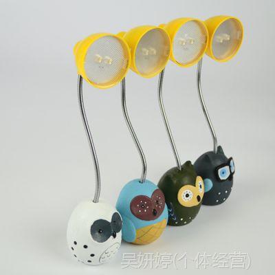 创意学生护眼灯迷你电子LED小台灯树脂猫头鹰小夜灯