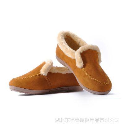 棉鞋批发2014冬时尚韩版女款毛口拖绒面平底一脚蹬浅口家居棉靴