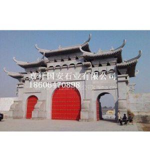 供应大门楼、石门楼、石雕门楼、石牌楼价格、石牌坊价格、石雕牌坊雕刻