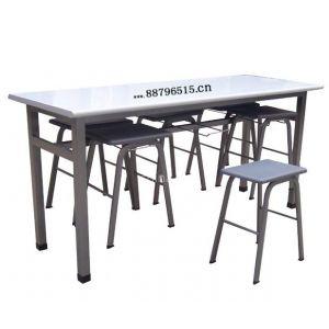 供应餐桌椅 出口型拆装式课桌椅 员工课桌椅