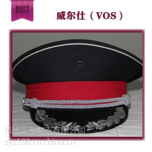 供应供应2014新款 小区物业保安服专用大檐帽 大盖帽 安保专用帽子 可定制