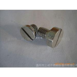 供应不锈钢平头一字螺丝 不锈钢平头螺钉 放气螺丝