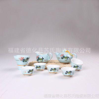 永丰祥陶瓷 高档青釉茶具 特色商务礼品 厂家直销 热销推荐