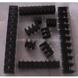 供应工业电源用接线端子、栅栏式端子台、黑色端子、变压器接线柱