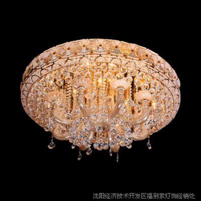 厂家直销批发LED节能灯饰酒店卧室客厅欧式水晶吊灯吸顶灯36003