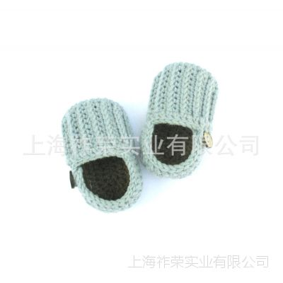[厂家直销]毛线手钩婴儿鞋 毛线编织童鞋 针织毛线鞋 毛线虎头鞋