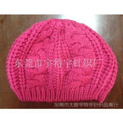 针织毛线帽子提花毛线帽成人帽儿童帽圆顶毛线帽平顶毛线帽