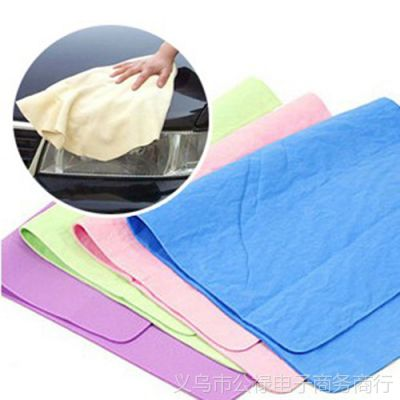 40*30cm 多功能鹿皮擦车巾干发吸水毛巾 超柔软洗车巾清洁巾63g