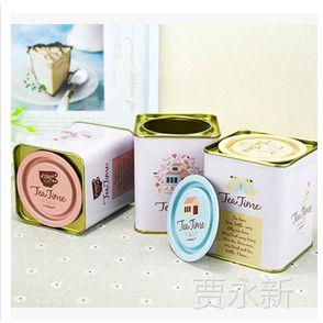 韩国文具 大撬盖茶叶罐 英伦风铁盒 马口铁盒 茶叶罐 20270