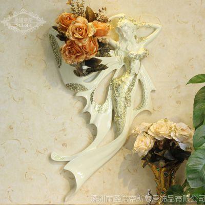 欧式家居创意装饰 美女天使大号壁挂 立体墙饰 多色可选