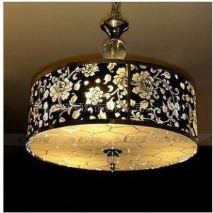 供应爱灯堡 欧式吊灯 餐厅水晶灯 创意布艺田园风格玄关灯 8370d-4图片