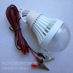供应中山厂家环保12V带线鳄鱼夹夜市球泡 LED球泡灯