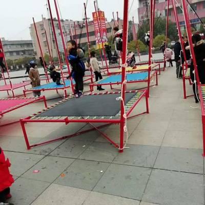 台南儿童小型钢架蹦极多少钱 郑州心悦厂家XY-BJ儿童跳床1100元2*2*4米方形蹦极