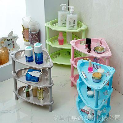 嫒尚宅品 多功能浴室置物架三角架塑料卫生间收纳整理架层架小号