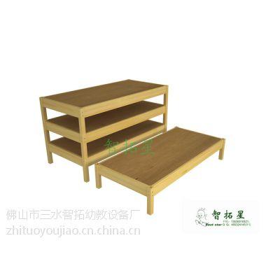 智拓星品牌幼儿园家具丨实木幼儿睡床丨叠叠床