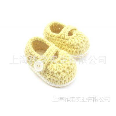 [厂家直销]手工毛线鞋 针织毛线鞋 毛线编织童鞋 手钩毛线婴儿鞋
