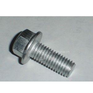 供应温州供应优质六角法兰带垫螺栓高强度法兰螺栓非标法兰螺栓定做