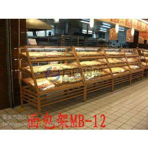 供应超市面包架 木质糕点展示架
