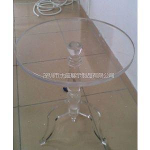 供应订制生产:亚克力休闲桌,有机玻璃圆桌,压克力桌子