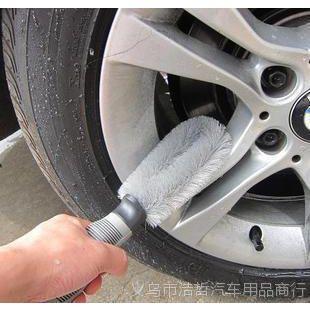 汽车刷子 车刷轮毂刷 汽车轮毂专用清洁刷 防滑防冻软柄 硬毛刷