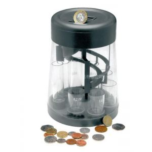 厂家直供2016热销款电子计币器分币器 电子清分机 计数存钱罐 识币储钱罐