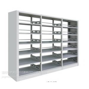 供应铁皮图书馆书架 钢制图书馆书架 铁皮双面书架多少钱