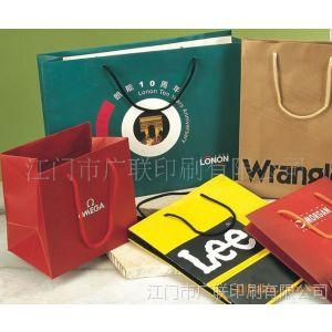 供应江门江海区 加工生产彩印手挽袋纸袋 礼品袋手提袋牛皮袋 购物袋