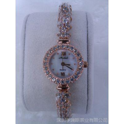 厂家直销女士手链表 潮流百搭进口闪钻女款时装表 时装女士手表