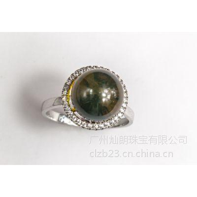 灿朗珠宝首饰加工 S925银 18K 微镶 金银戒指定做