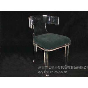 供应带软垫餐椅 高档别墅椅子 会客酒店餐厅 休闲椅子 透明亚克力椅子