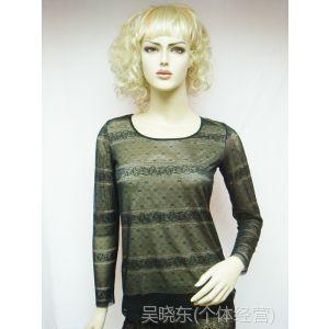 供应2013秋季蕾丝打底衣 蕾丝透色长袖打底衣 女士修身显瘦打底衫