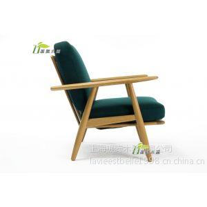 供应白橡时尚实木沙发椅 高档会所美国实木沙发/椅 布艺沙发椅定做