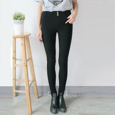 秋装新款韩版女式打底裤修身显瘦小脚裤铅笔裤长裤子潮
