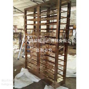 加工定制 豪华不锈钢玫瑰金酒柜 展示柜