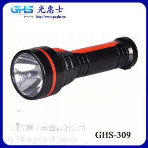 供应2014年好卖的手电筒款式 新款LED家用塑料手电筒 309