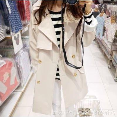 韩国东大门代购 新款女装高端大牌宽松韩版风衣 女1553