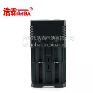 供应深圳市浩霸电池18650多功能充电器 2槽制定