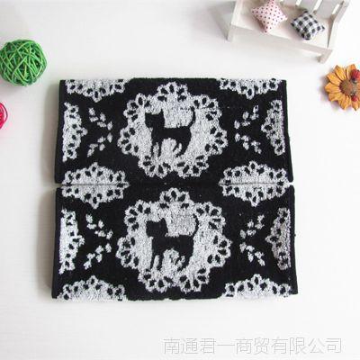 出口日本魔女宅即便黑猫方巾 收藏版 全棉方巾 婴儿口水巾 批发
