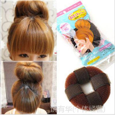 第三代新款日系甜甜圈带粘盘发器 丸子头长发变短发美发工具批发